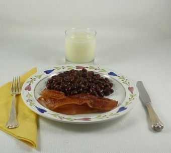 Bacon and Swedish Brown Beans