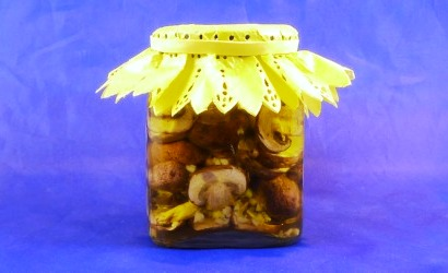 Pickled Crimini Mushrooms.