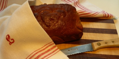Dark Rye Bread baked with Honey and Candied Orange Peel