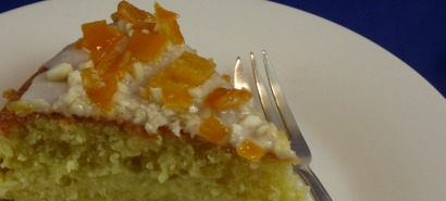 Ambrosia Cake with Almonds ans Candied Orange Peel