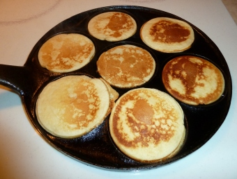 Pancakes in griddle