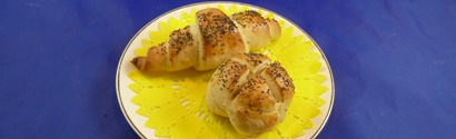 Rose Bread and Crecent Roll